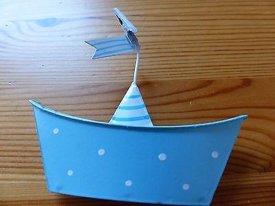 Geschenkartikel, Maritime Deko, Boote aus Metall,Tischkarten Halter, NEU