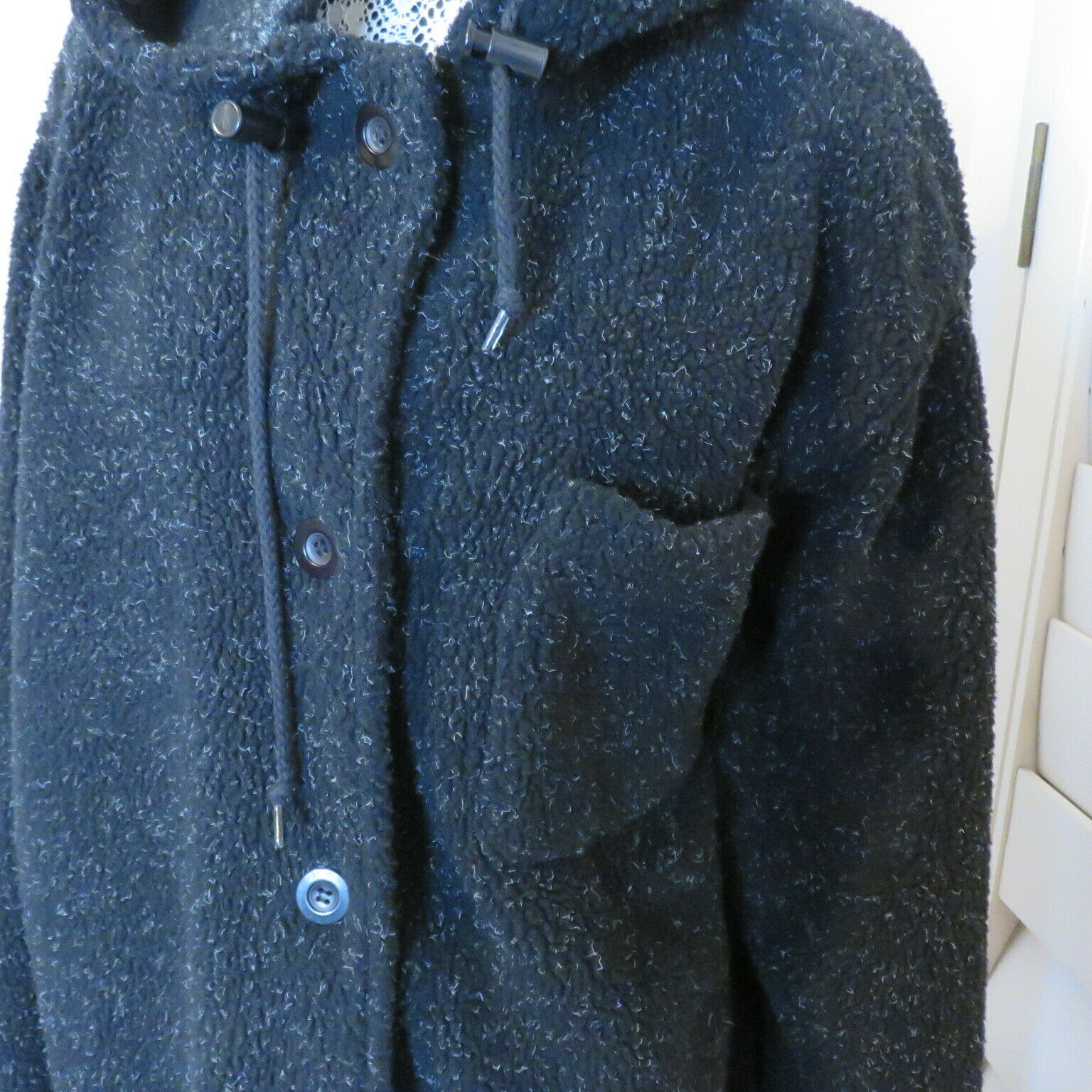 Roaman's M Fleecy Hooded Pockets Duffel Coat Wome… - image 2