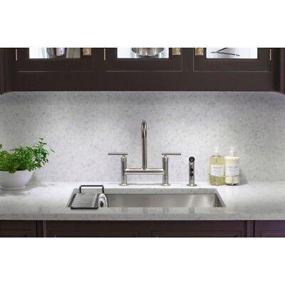 Kohler K 7548 4 Sn Purist Polished Nickel Two Handle Deck Mount Bridge Faucet 885612025623 Ebay