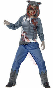 Image is loading Smiffys-Boys-Teen-Kids-Werewolf-Wolf-Halloween-Fancy-  sc 1 st  eBay & Smiffys Boys Teen Kids Werewolf Wolf Halloween Fancy Dress Costume ...