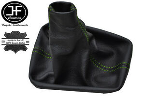 grün Nähten Schalthebel Manschette passen Toledo Mk2 Leon Mk1 1999-2005