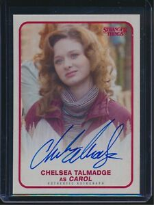 Details About 2018 Topps Netflix Stranger Things Chelsea Talmadge As Carol Autograph Auto