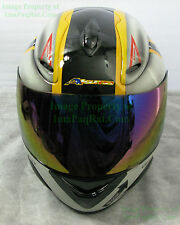 NEW AKUMA V1 IRIDIUM Visor Ghost Rider F14 & Werewolf Helmet NICE! Face Shield