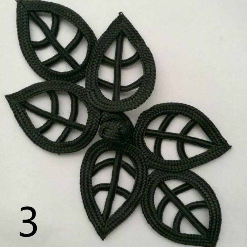 """12 or 30 Pairs Black 2.25/"""" Chinese Frog Closure Button Knot Fastener 6"""
