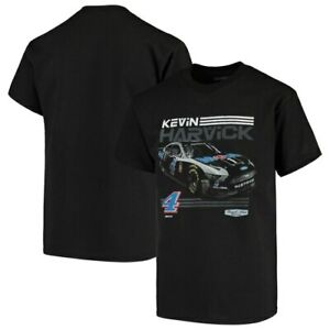 Youth-Checkered-Flag-Black-Kevin-Harvick-T-Shirt