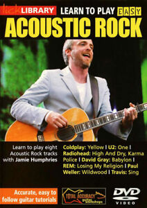 LickLibrary Learn 8 EASY ACOUSTIC ROCK GUITAR Lessons Video