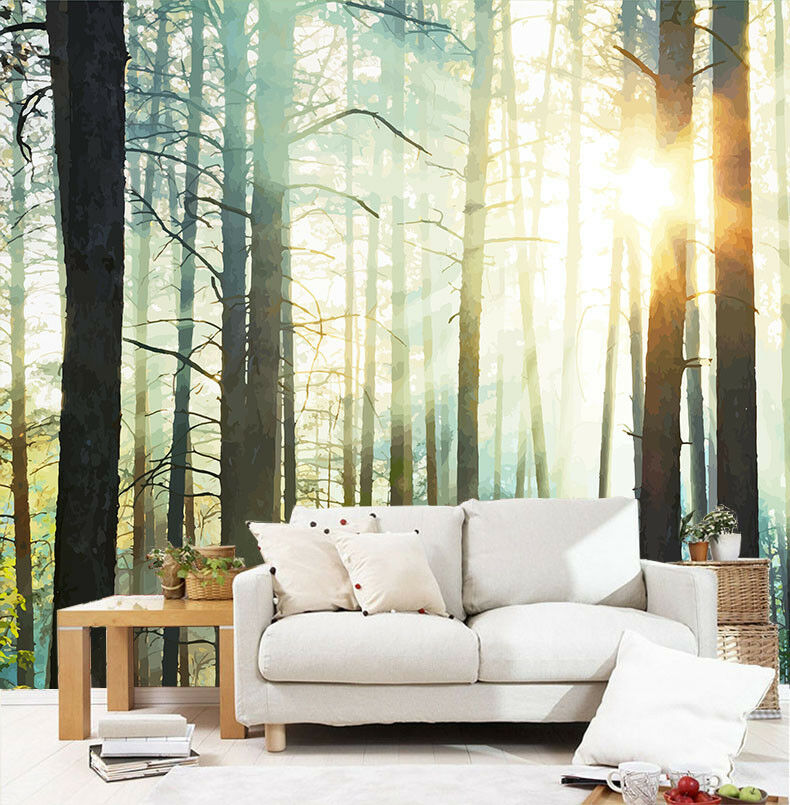 3D Sonnige Wälder 47 Tapete Tapeten Mauer Foto Familie Tapete Wandgemälde DE