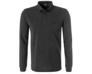 Hugo-Boss-Black-Pado-10-50391549-061-Mangas-Largas-Camisa-Polo-Para-Hombre-Top-Gris