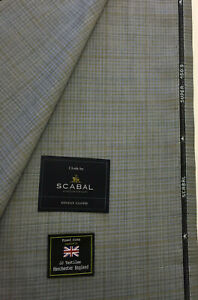 SCABAL Grey Check//Plaid Luxury Wool Suit Fabric 260g 703691