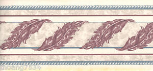 Acanthus-Leaf-Scroll-Burgundy-White-Blue-Rope-Wallpaper-Border