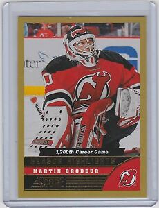 13 14 2013 14 Score Martin Brodeur Season Highlights Gold Parallel