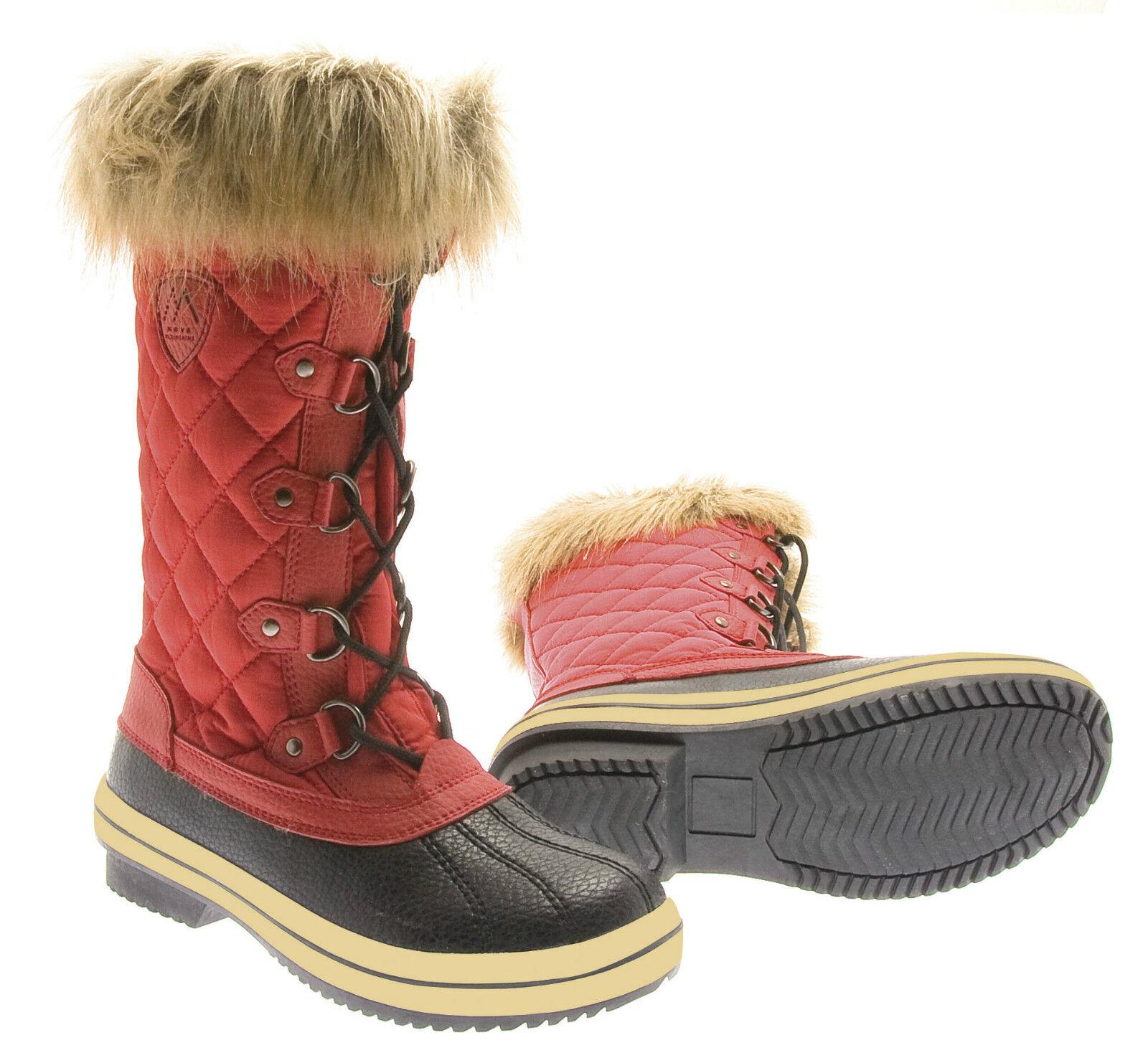 Damenstiefel Ribbon ROT Gr.36-42 Winterstiefel bis -20°C Stiefel WPS wasserdicht