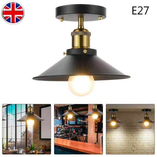 E27 LED Industrial Vintage Style Metal Ceiling Light Shade Lampshade Accessories