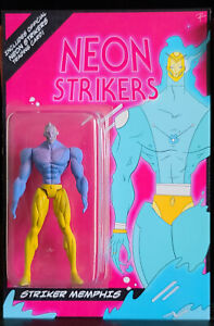 """Neon Strikers - Custom Memphis 4"""" Action Figure with Card"""