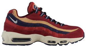 New! NIKE AIR MAX 95 738416-603 Red Crush/Provence Purple/Wheat Gold PRM c1