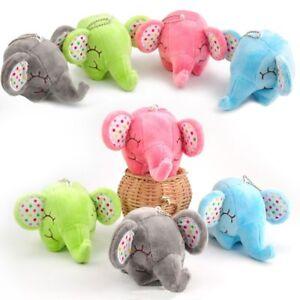 Peluche-Floral-Elephant-Porte-cles-Sac-Pendentif-Farci-Animal-Poupee-Doux-Jouet