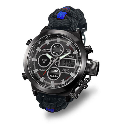 Paracord Watch with The Police Force Colours Water Resistant 3atm