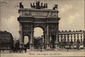 Milano-Mailand-Italia-1927-Carolina-mit-Frankatur-Porta-Sempione-Arco-della-Pace