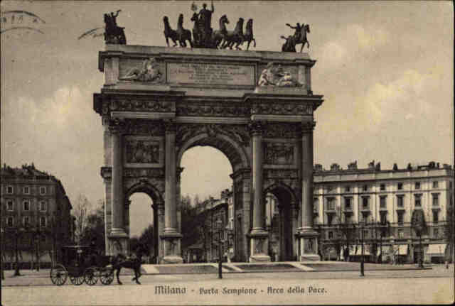 Milano Mailand Italia 1927 Carolina mit Frankatur Porta Sempione Arco della Pace