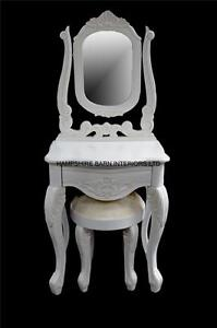 Image Is Loading French Chateau Style Small White Dressing Table Mirror