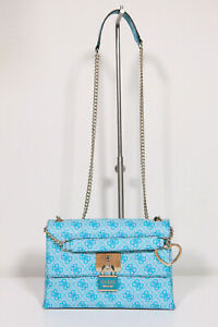Details about New Guess Shoulder Bag Crossbody Handbag Downtown Cool Turquoise (129)