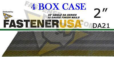 "DA17 15 Gauge Angled Finish Nails 34 Degree 1 1//2/"" 4,000 ct"