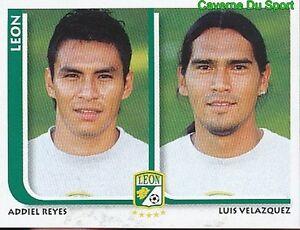 288 ADDIEL REYES / LUIS VELAZQUEZ CF.LEON MEXICO STICKER SUPERFUTBOL 2009 PANINI