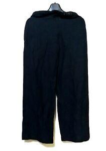 Esprit-Navy-Blue-buckle-belt-linen-pants