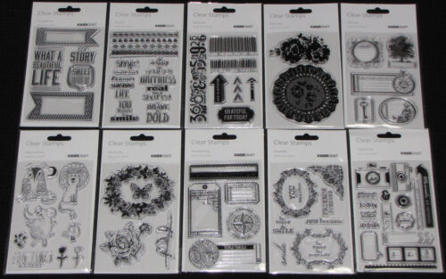 Choose from 6 Designs KAISER Kaisercraft Clear Stamps /'COLLECTIONS 2014/'
