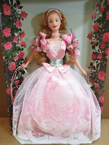Rose-Barbie-Doll-A-Garden-of-Flowers-1st-in-Series-Collector-Edition-NEW-In-Box
