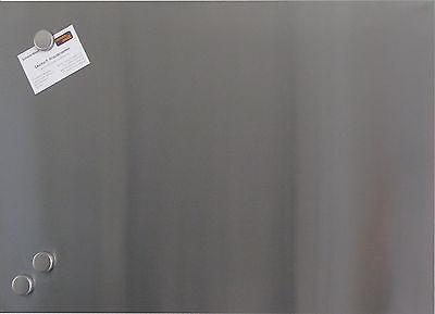 Magnettafel 40x60 cm aus EDELSTAHL Whiteboard Magnetwand Memoboard Pinnwand Pinn