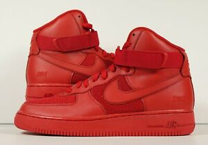 Details about Nike Air Force One Hi iD All Red AF1 New Custom Size 10