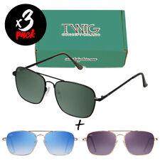 Tris occhiali da sole TWIG Pack RUSKIN [Premium] uomo/donna metallo rettangolari