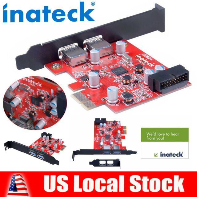 Mini Pci-E USB 3.0 Hub Controller Adapter with Internal USB 3.0 20-Pin Connector No Additional Power Connection Needed Inateck 2-Port Pci-E USB 3.0 Express Card Expand Another Two USB 3.0 Ports
