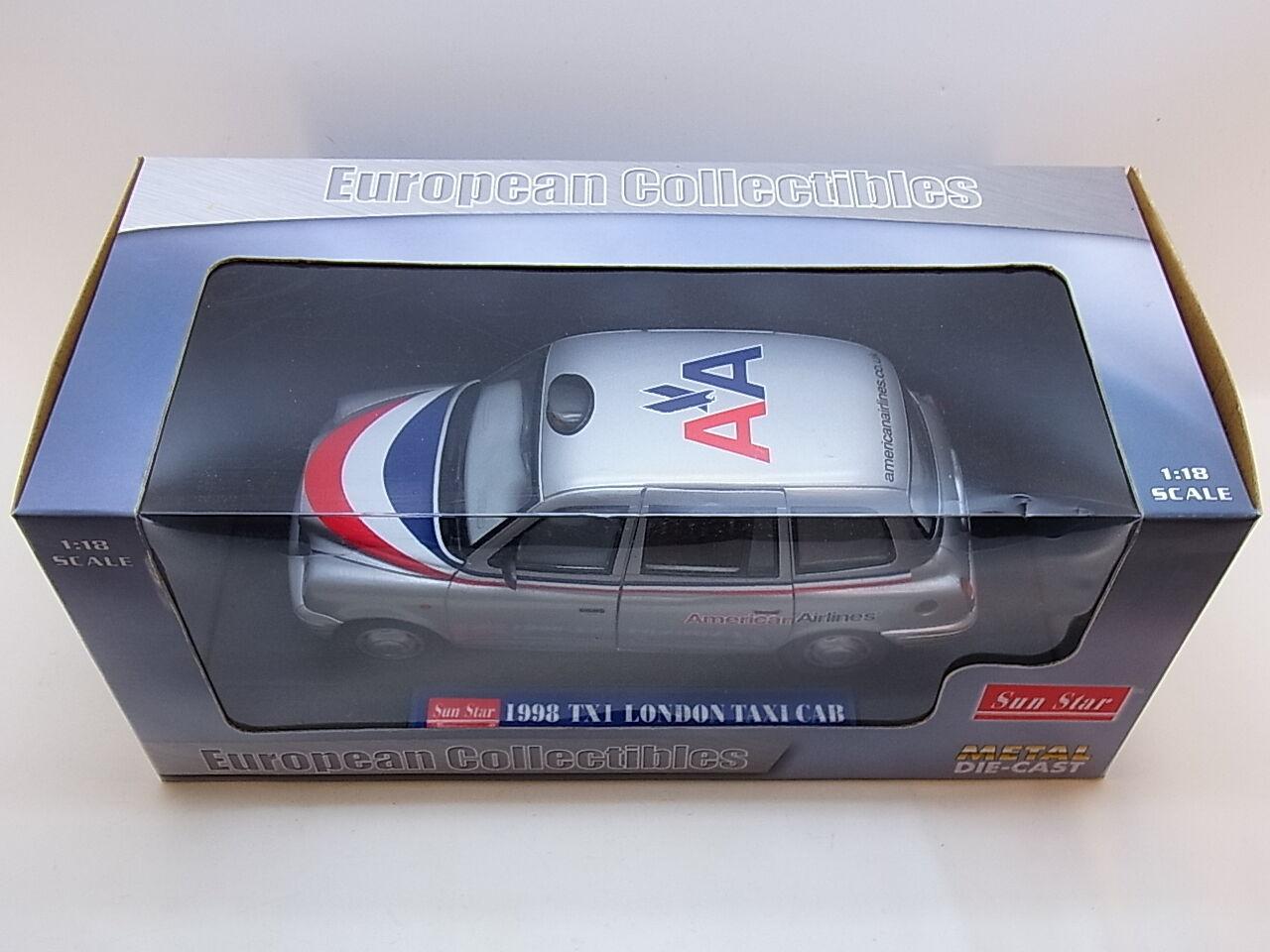 Lot 32007   SUN STAR 1123 1998 Tx 1 London Taxi Cab Les-CAST Voiture Miniature 1 18 neuf dans sa boîte