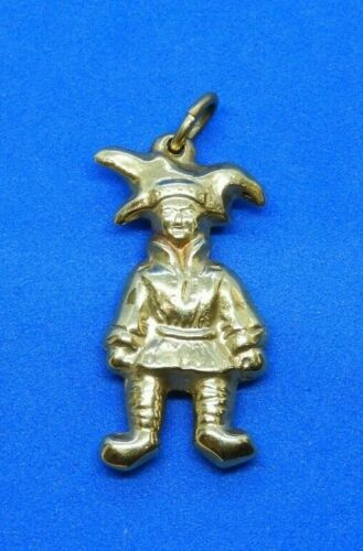 14K Yellow Gold Court Jester Charm