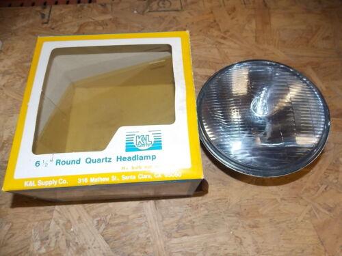 NOS K/&L Supply Company 61//2 Round Quartz Headlamp Yamaha Kawasaki Honda Suzuki