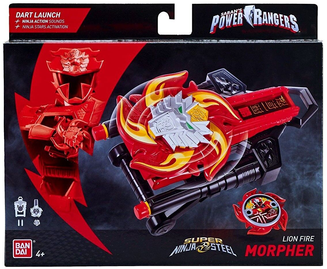 Power Rangers Ninja Steel Lion Fire Morpher Roleplay Toy