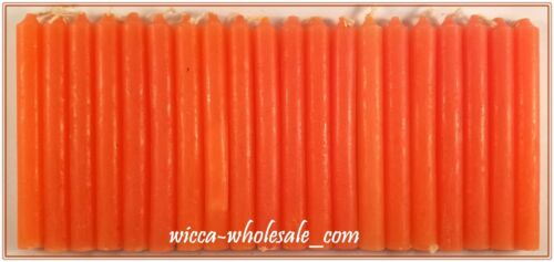 "LOT OF 20 ORANGE COLOR Chime Spell Candles Mini 4/"" Pagan Wicca Ritual FREE SHIP"