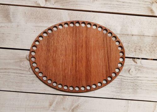 En Bois Crochet Panier De Base ovale 20 cm x 15 cm