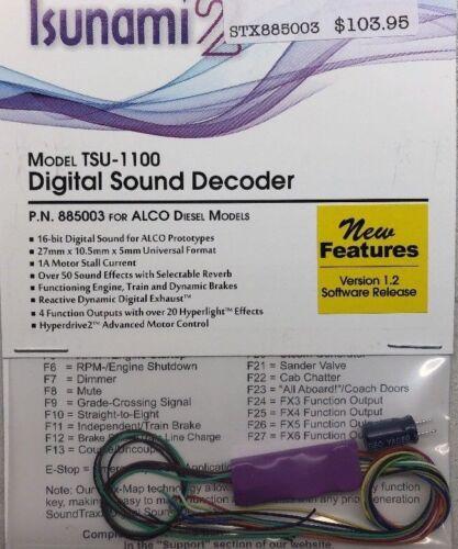 Soundtraxx 885003 TSUNAMI 2 1A TSU-1100 Sound Decoder Ver 1.2 ALCO MODELRRSUPPLY