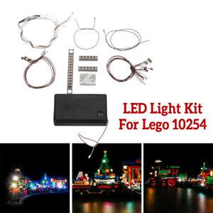 LED-Lichterkette-Teil-fuer-Lego-10254-Creator-Weihnachten-Winterurlaub-Zug-Stadt
