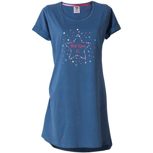AMORE a dormire Women/'s Wish Upon A Star Stampa Camicia Camicia Da Notte Sleep Tee