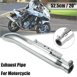 20-034-Motorcycle-Muffler-Exhaust-Pipe-Universal-Silencer-Tupe-For-Racer-Harley-AUS