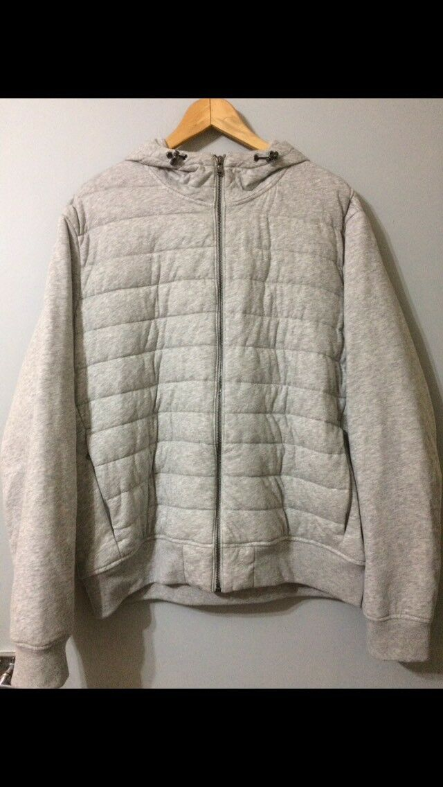 Polo Ralph Lauren Quilted Jersey Full Zip Hoodie Hoody Grau Größe XL Extra Large