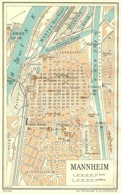 GERMANY Mannheim 1931 old vintage map plan chart