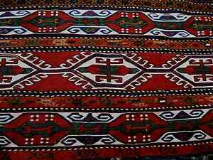 Rugs & Carpets Temperate 1900 Armenian Antique Sumak Mafrash Exceptional Piece All Origenal Amazing