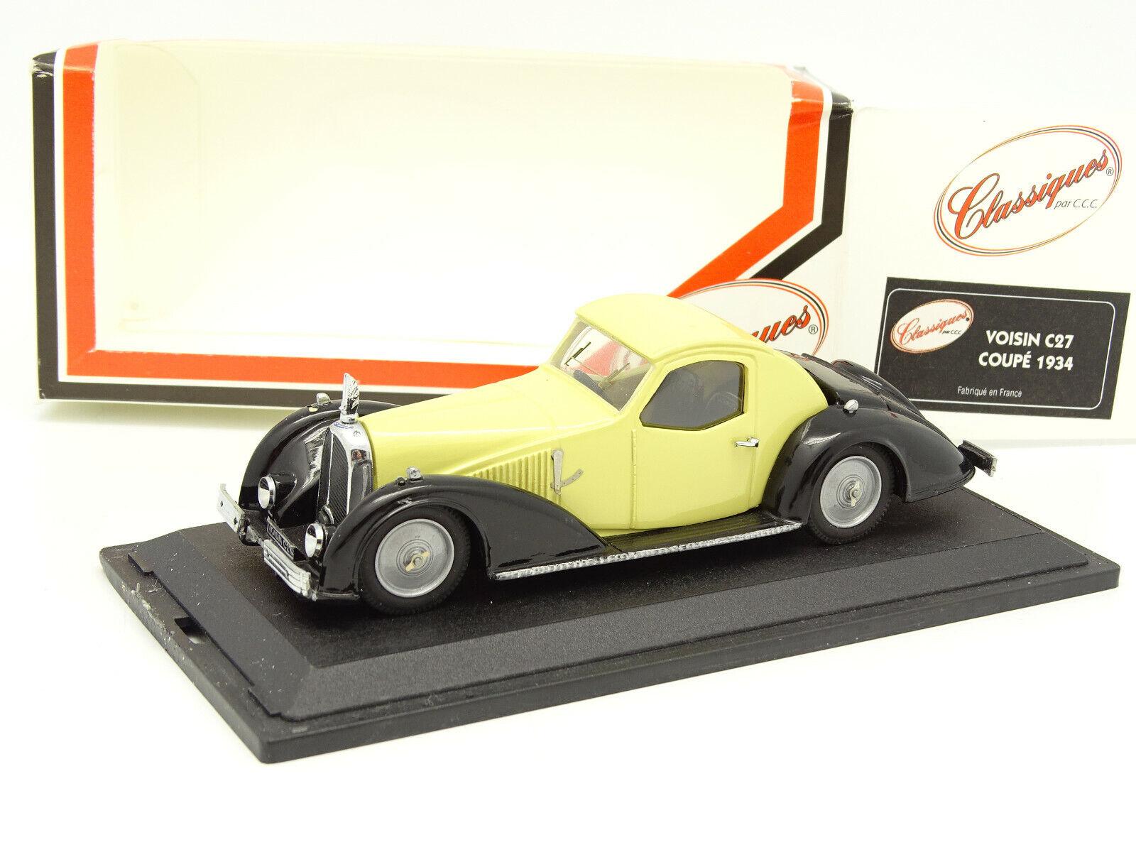 Classiques CCC 1 43 - Voisin C27 Coupé 1934 Jaune clair