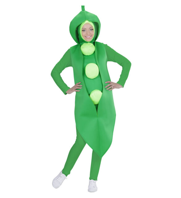 a6b85e82a9bb1 PEA COSTUME ADULT PEA IN POD FANCY DRESS VEGGIE BOY GIRL MAN WOMAN UNISEX  FOOD