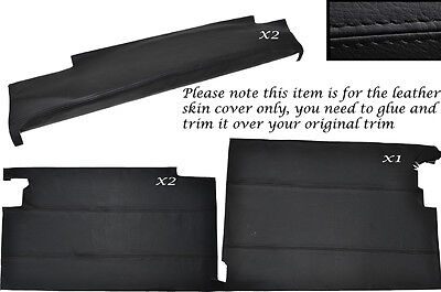 BLACK STITCH LOWER DOOR CARD KIT LEATHER SKIN COVERS FITS LANDROVER SERIES 2A 3